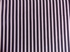 Black with White Stripe 100% Cotton Fabric